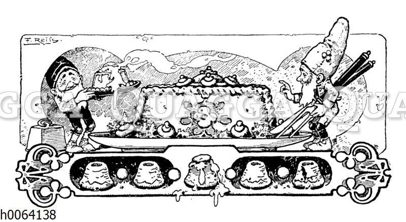 Kochbuchvignette: Pudding
