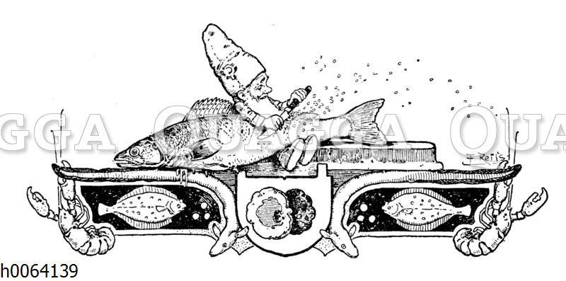 Kochbuchvignette: Fisch und Schalentiere