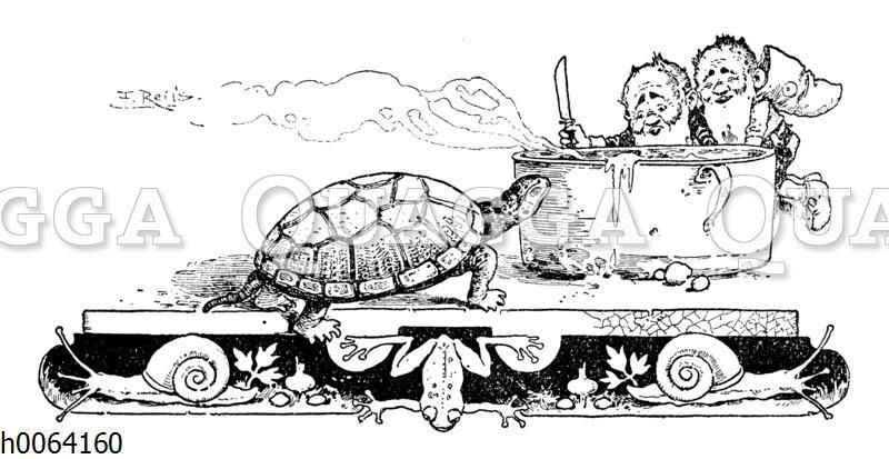 Kochbuchvignette: Schildkröte