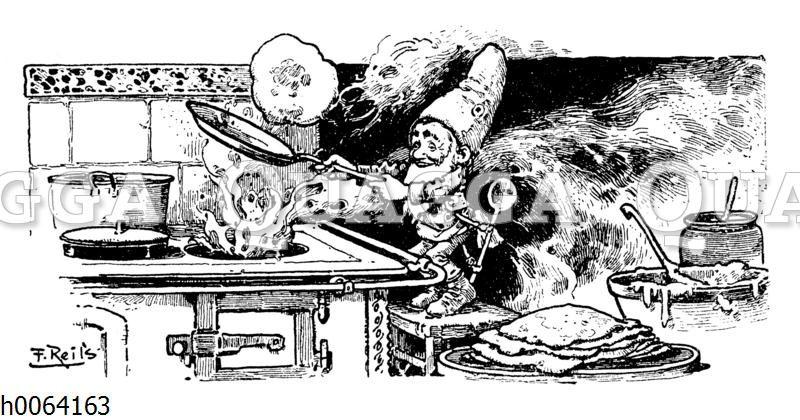 Kochbuchvignette: Pfannkuchen