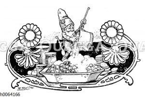 Kochbuchvignette: Süßspeisen