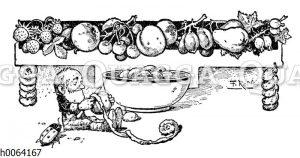 Kochbuchvignette: Kompott