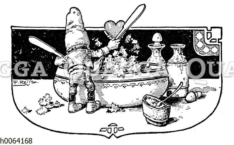 Kochbuchvignette: Salat