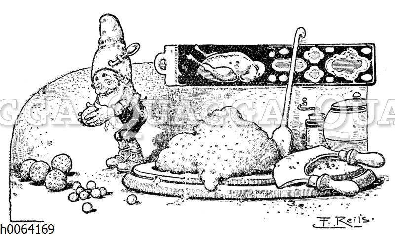 Kochbuchvignette: Knödel und Klöße