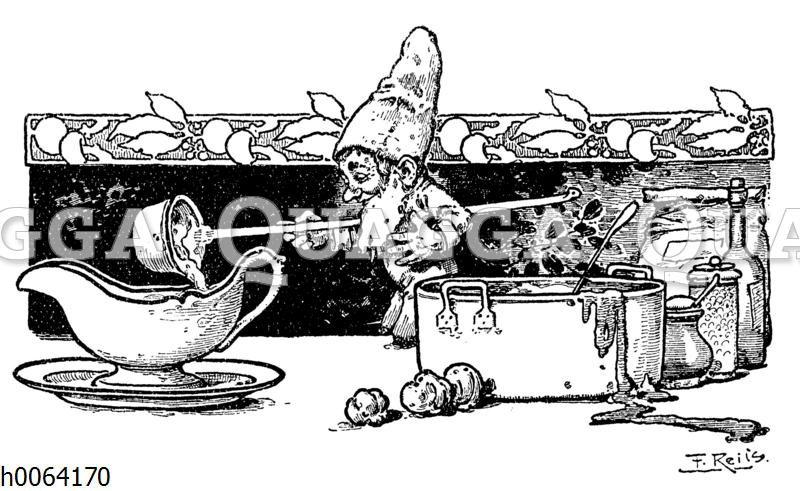 Kochbuchvignette: Soßen