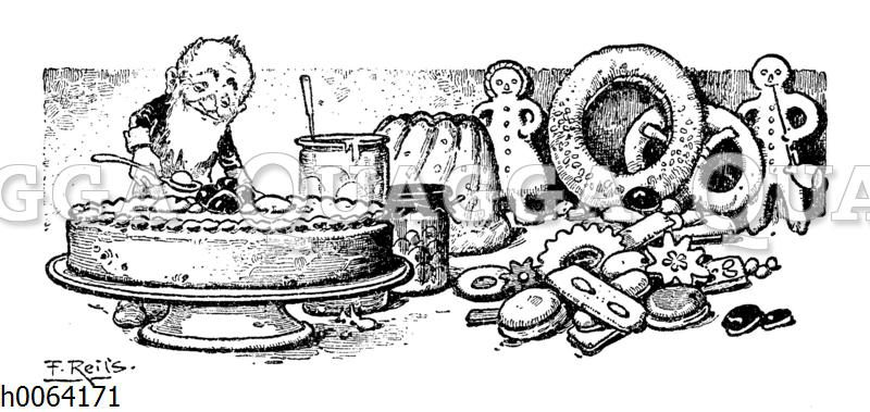 Kochbuchvignette: Gebäck