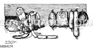 Kochbuchvignette: Wurst
