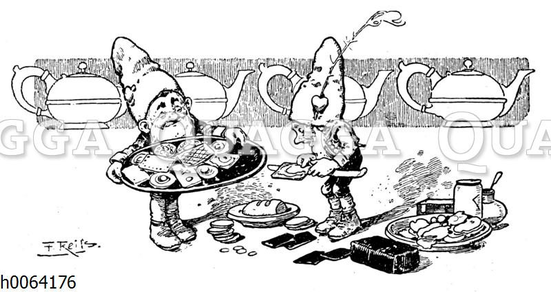 Kochbuchvignette: Tee und Gebäck