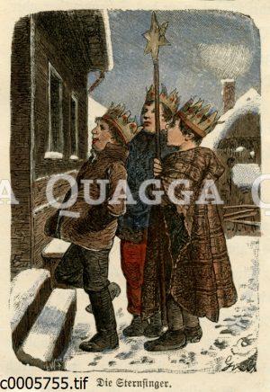 Sternsinger: Drei Jungen als drei heiligen Könige