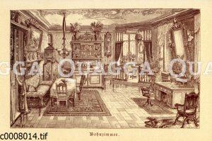 Bürgerliches Wohnzimmer des 19. Jahrhunderts