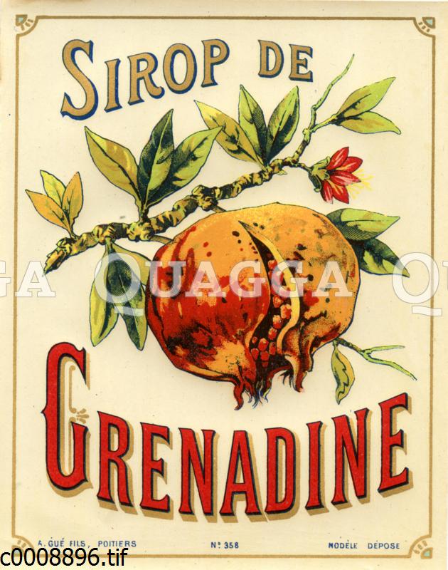 Etikett für Grenadine