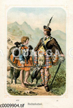 Schotten aus dem schottischen Hochland