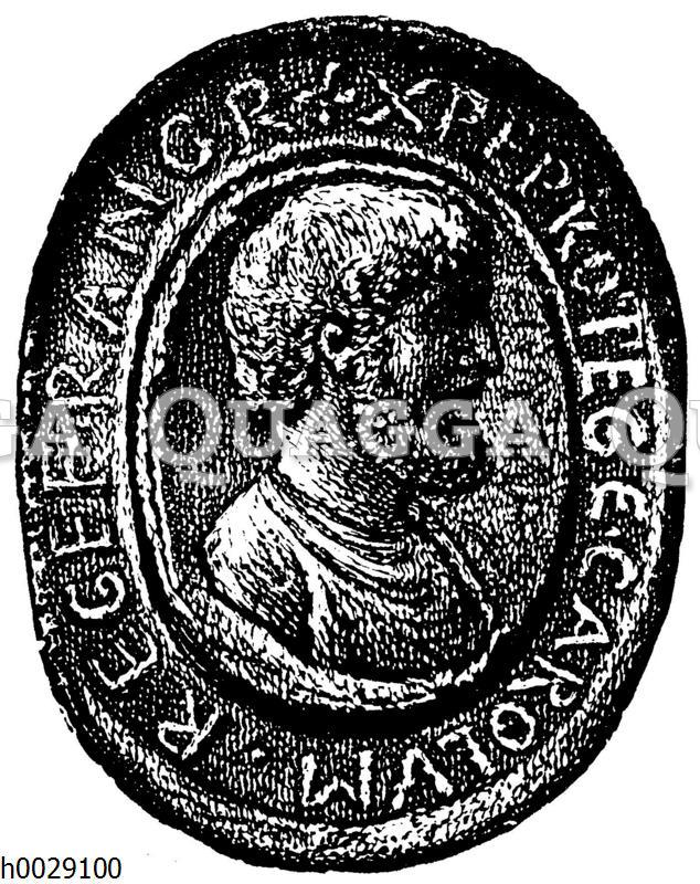 Münze mit dem Porträt Karls des Großen
