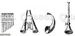Musikinstrumente aus Pompeji und Herkulaneum: Rohrpfeife