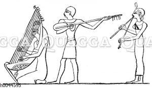 Altägyptische Harfe