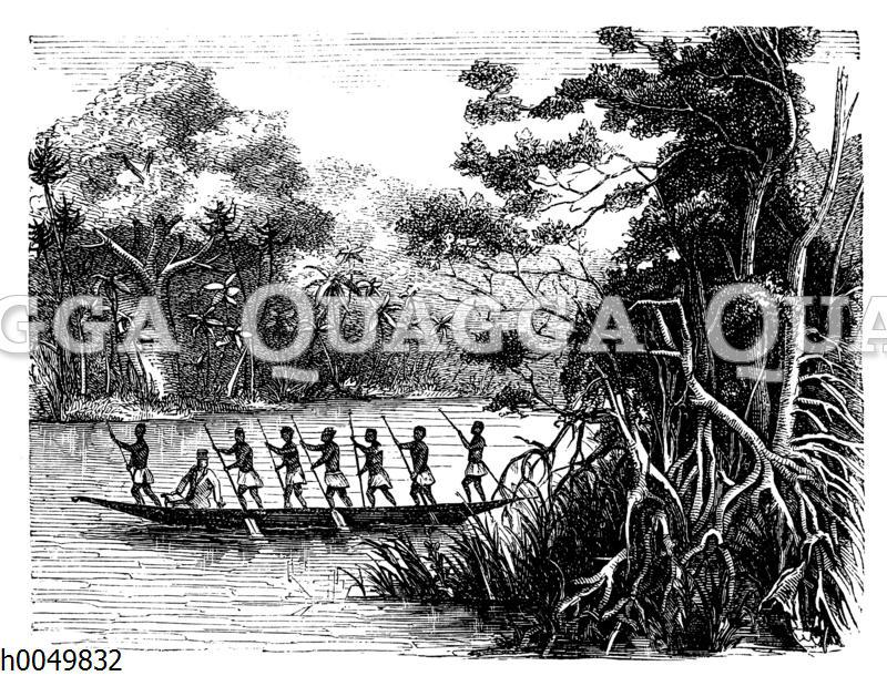 Livingstones Reise an die Ostküste