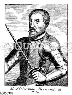 Adelantado Hernando de Soto. Porträt