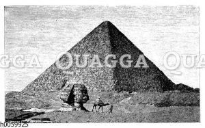 Cheops-Pyramide und große Sphinx