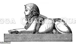 Sphinx mit dem Kopf eines Mannes