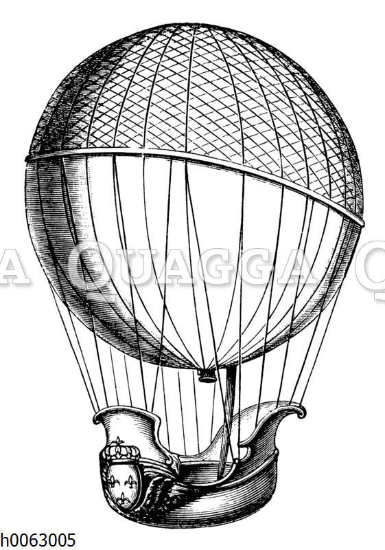 Heißluftballon von Charles und Gebrüer Robert