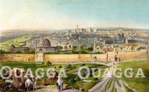 Blick auf Jerusalem vom Ölberg aus
