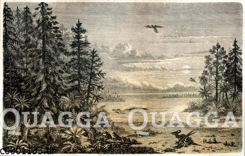 Landschaft zum Ende der Jura-Zeit