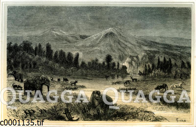 Landschaft aus der Zeit des Pliozän