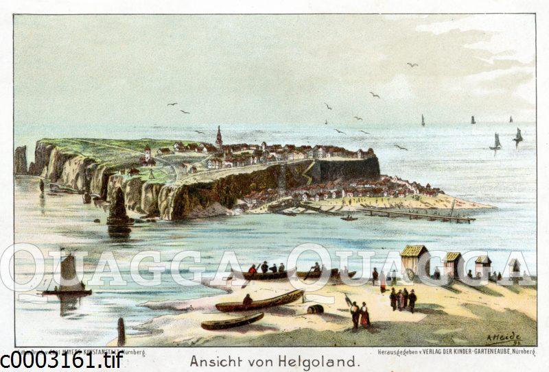 Historische Ansicht von Helgoland