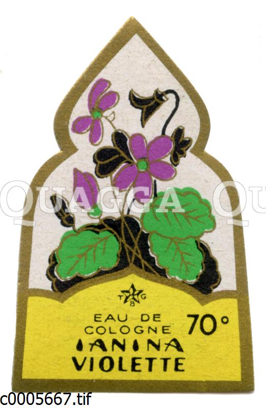Parfumetikett: Eau de Cologne Ianinia Violette