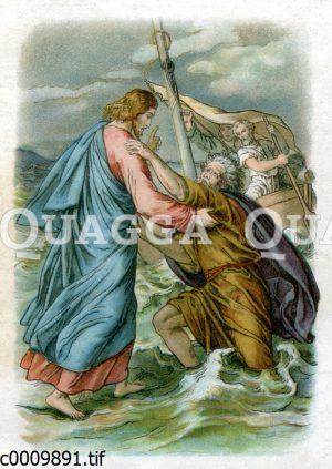 Jesus rettet den sinkenden Petrus