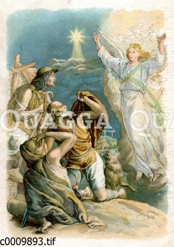 Den Hirten wird die Geburt Christi verkündet