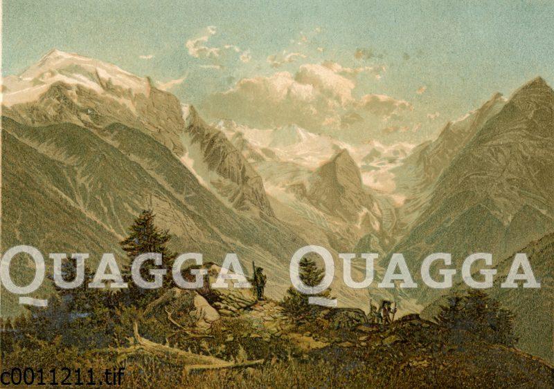 Landschaft des Ortler-Gebiets in Tirol