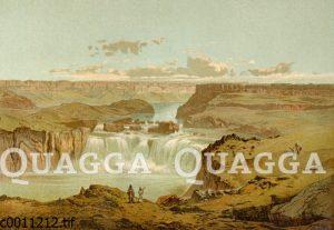 Canon und Wasserfall des Shoshone in Nordamerika