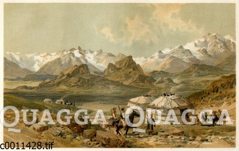 Hochtal und Hochgebirge in Ost-Pamir