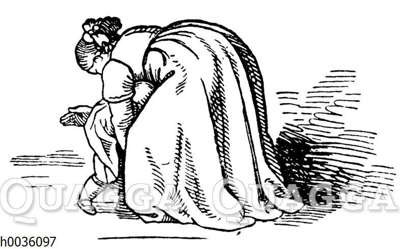 Frau schlägt kleines Kind