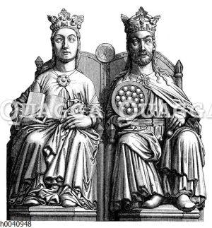 Statuen Ottos des Großen und der Editha im Dom zu Magdeburg