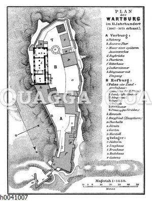 Lageplan der Wartburg