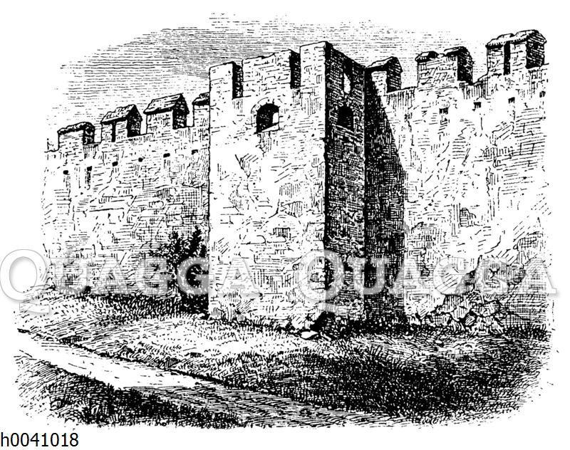 Teil der Mauer in Groß-Enzersdorf in Niederösterreich