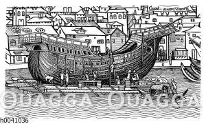 Bau eines großen Seeschiffes im letzten Drittel des 15. Jahrhunderts