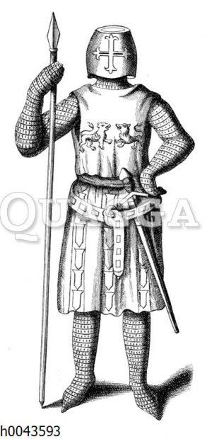 Französischer Ritter gegen Ende des 13. Jahrhunderts.