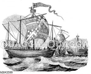 Englische Schiffe zur Zeit König Eduards IV.