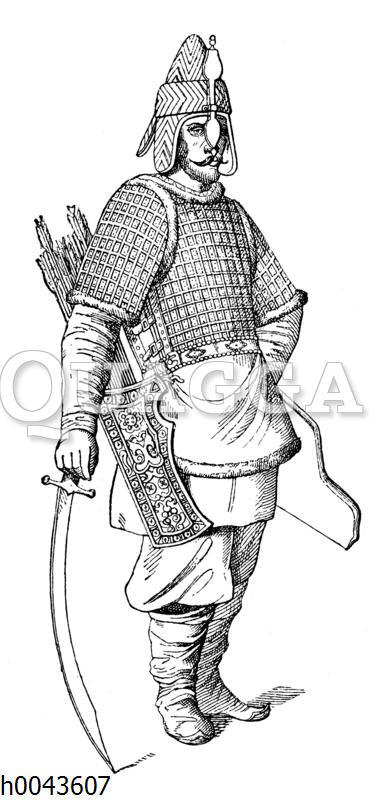 Russische Kriegskleidung zu Ende des 15. Jahrhunderts