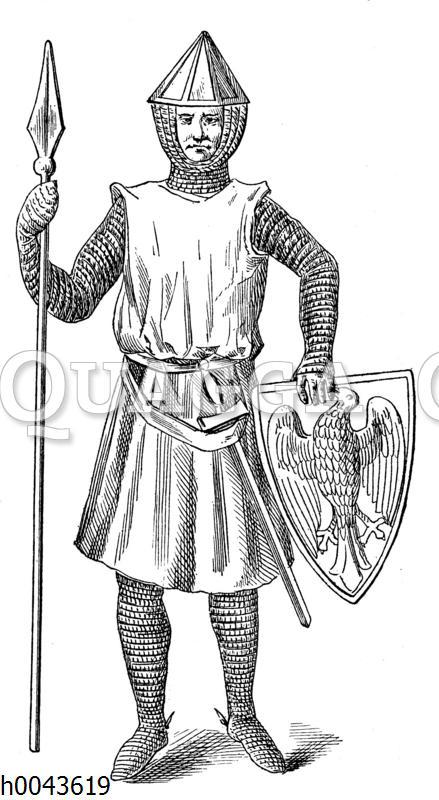 Polnischer Ritter des 13. Jahrhundets