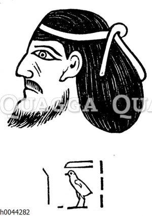 Kopf eines Aamu vom Grabe Setis I.