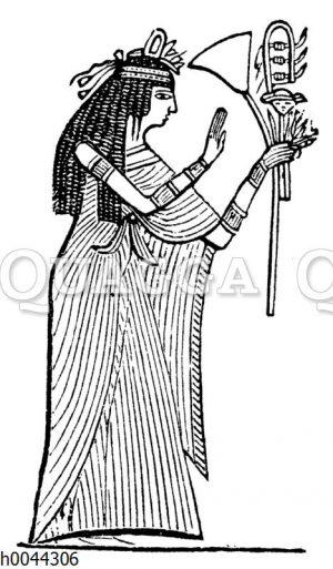 Ägyptische Priesterin