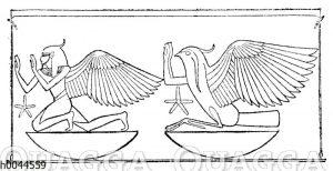 Ägyptische Darstellung des Vogels Phönix
