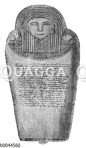 Sarkophag mit Inschrift des sidonischen Königs Eschmunazar