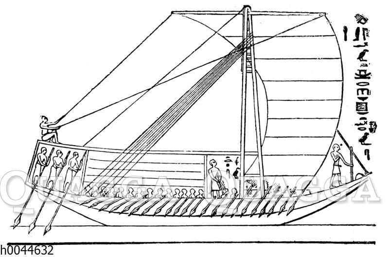 Großes ägyptisches Segelschiff