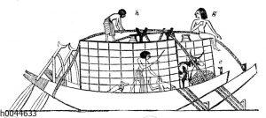 Ägyptische Frachtboote