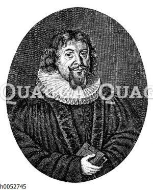Jahann Balthaser Schupp. Kupferstich von J. Sandrart